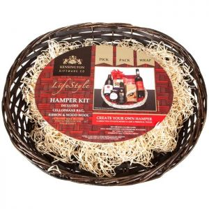 Lifestyle Create Your Own Hamper - Brown Oval Basket