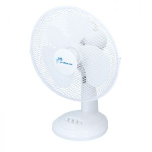 Lifetime Air Oscillating Desk Fan - 12in