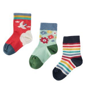 Frugi Baby Little Socks, Pack of 3 - Horse
