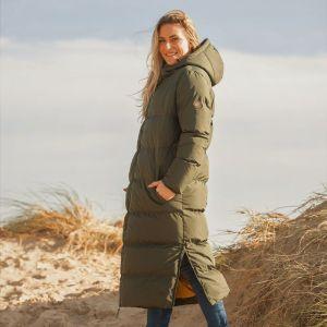 Brakeburn Women's Longline Puffa Jacket - Green