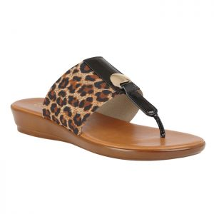 Lotus Women's Arna Slip-On Toe-Post Sandals – Leopard Print