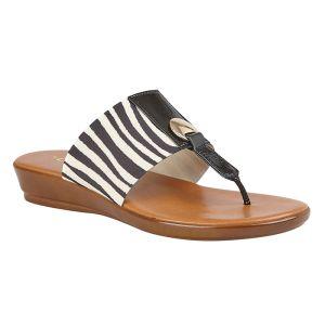 Lotus Women's Arna Slip-On Toe-Post Sandals – Zebra Print