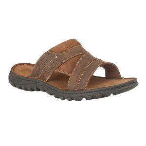 Lotus Men's Cole Slip-On Mule Sandals – Brown