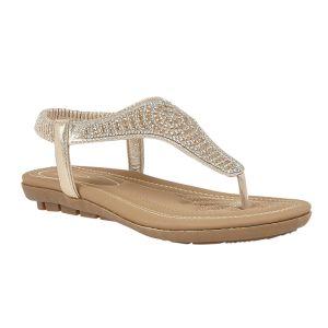 Lotus Women's Orla Toe-Post Sandals – Gold