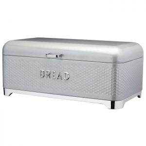 KitchenCraft Lovello Textured Bread Bin – Shadow Grey