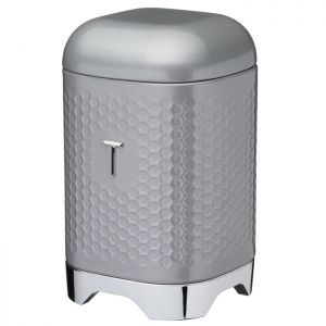 KitchenCraft Lovello Textured Tea Canister – Shadow Grey