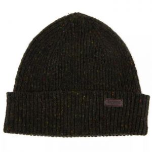 Barbour Lowerfell Donegal Beanie Hat -Dark Green