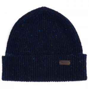 Barbour Lowerfell Donegal Beanie Hat - Navy