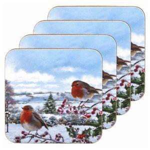 Lesser & Pavey Robins Coasters – Set of 4