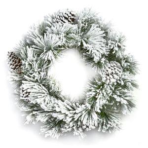 Premier Snow & Pinecone Lumi Wreath - 50cm