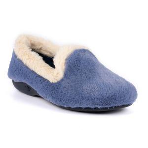 Lunar Women's Shake Fur Trim Slipper - Blue