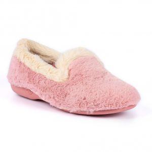 Lunar Women's Shake Fur Trim Slipper - Pink