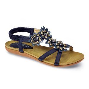 Lunar Women's Fiji Floral Sandal - Blue