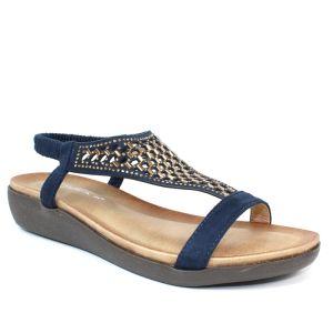Lunar Women's Flamenco 'T' Bar Sandals - Blue