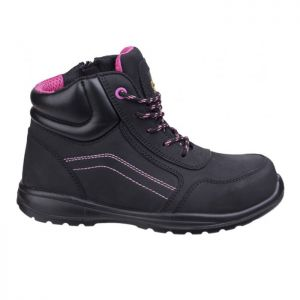 Amblers AS601 Lydia Composite Safety Boots – Black/Pink