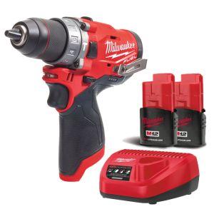 Milwaukee M12FPD-202B Fuel Combi Drill Kit