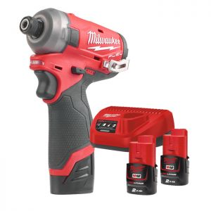 Milwaukee M12FQID-202X Fuel ¼″ Hex Hydraulic Impact Driver Kit