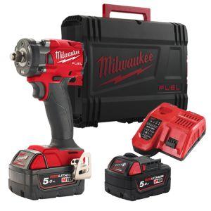 Milwaukee M18FIW2F38-502X Fuel ⅜″ Impact Wrench Kit