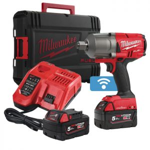 Milwaukee M18ONEFHIWF34-502X Fuel One-key™ ¾″ High Torque Impact Wrench Kit