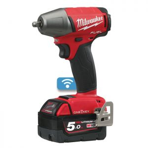 "Milwaukee M18ONEIWF38-502X One-Key™ Fuel 3/8"" Impact Wrench with Friction Ring"