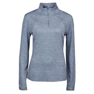 Dublin Women's Maddison Long Sleeve ¼ Zip Top – Gunmetal Melange