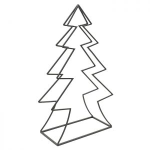 Mansion Christmas Tree Log Holder Frame – Black
