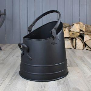Mansion Stuart Coal Bucket, Medium – Black