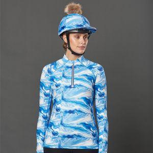 Weatherbeeta Women's Ruby Marble Long Sleeve Top – Blue