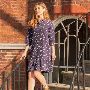Brakeburn Women's Maria Cord Shirt Dress - Navy