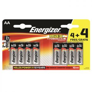 Energizer Max Battery AA - 4+4 Pack