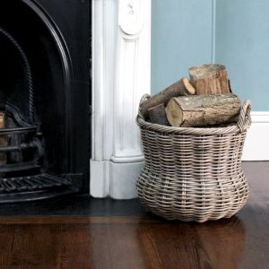 Medium Round Wicker Log Basket