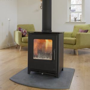 Mendip Loxton Double Sided Multi Fuel Stove - Defra, 8kW