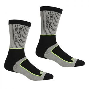 Regatta Men's Samaris 2 Season Socks, Pack of 2 – Steel