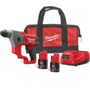 Milwaukee M12CH-202B Sub Compact SDS+ Hammer Drill Kit