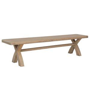 Montgomery Oak Cross Leg Dining Bench – 2m