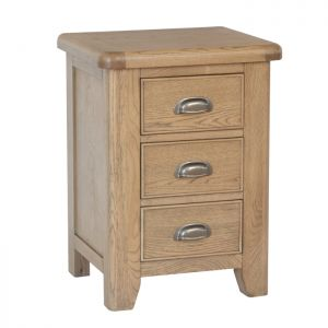 Montgomery Oak Large Bedside Table