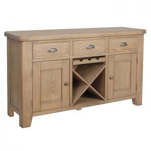 Montgomery Oak Large Sideboard with Wine Rack