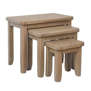 Montgomery Oak Nest of 3 Tables