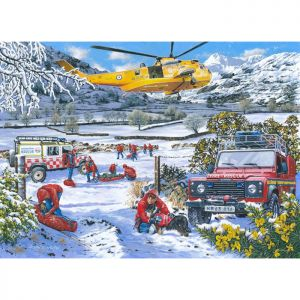House Of Puzzles The Oakridge Collection MC533 Mountain Rescue Jigsaw Puzzle - 1000 Piece