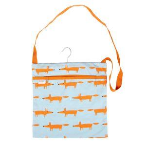 Dexam Scion Living Mr Fox Wipe Clean Peg Bag – Blue and Orange
