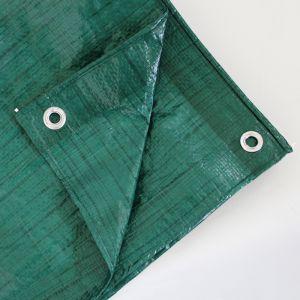 Multi-Purpose 3m x 3m Tarpaulin - Green, 80gsm