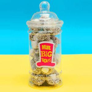 Mr Big Tops 500ml Jar of Sweets – Coconut Mushrooms