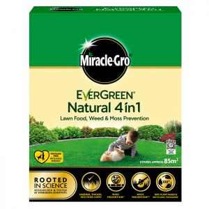 Miracle-Gro Evergreen Natural 4 in 1 Lawn Food, Weed & Moss Prevention - 85m²