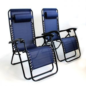 Wild Camping Gravity Chair, Navy - Set of 2