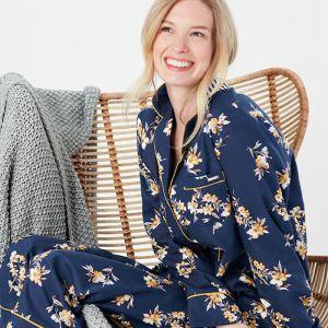 Joules Women's Sleeptight Pyjama Set – Navy Posy