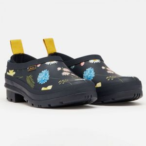 Joules Pop On Welly Clogs - Navy Spring Flower