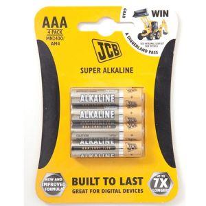 JCB Super AAA Battery - 4 Pack