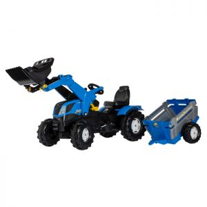 New Holland Farmtrac Rolly Ride-On Tractor with Loader & Trailer