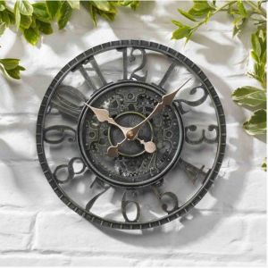 Outside In Newby Mechanical Wall Clock - Verdigris