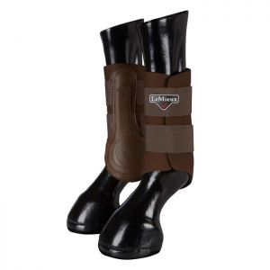 LeMieux Grafter Brushing Boots, Set of 2 - Brown